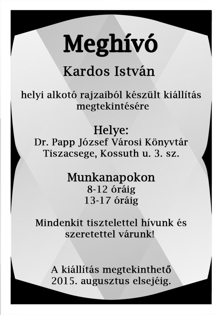 Kardos István kiállítás plakát